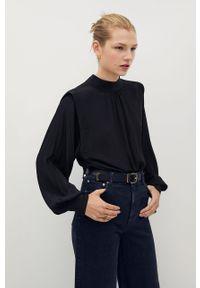 Czarna bluzka mango casualowa, z długim rękawem