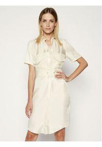 Biała sukienka koszulowa Victoria Victoria Beckham