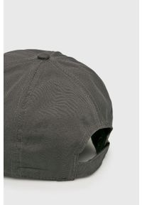 Szara czapka z daszkiem Jack Wolfskin gładkie
