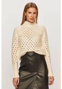 Kremowy sweter Silvian Heach długi, z długim rękawem, casualowy