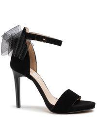 Czarne sandały Karino z aplikacjami, eleganckie