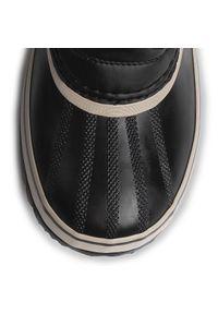 Czarne buty zimowe sorel z cholewką