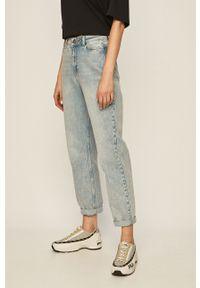 Niebieskie jeansy Noisy may na co dzień, z podwyższonym stanem, casualowe