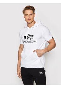 Alpha Industries Bluza Basic 126507 Biały Regular Fit. Kolor: biały