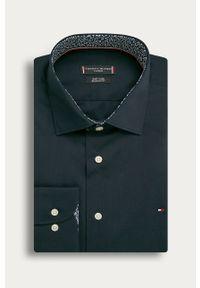 Niebieska koszula Tommy Hilfiger Tailored z długim rękawem, klasyczna