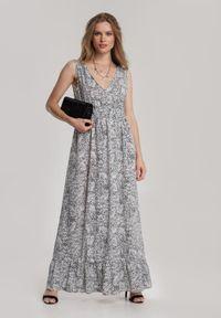 Renee - Biała Sukienka Mellodah. Kolor: biały. Materiał: materiał. Długość rękawa: bez rękawów. Długość: maxi