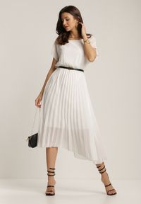 Renee - Biała Sukienka Myslodia. Kolor: biały