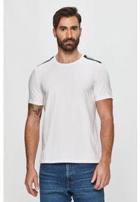 Biały t-shirt Moschino Underwear na co dzień, z okrągłym kołnierzem
