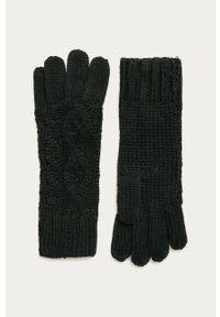 Czarne rękawiczki Stefanel klasyczne