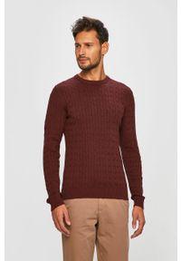 Brązowy sweter Jack & Jones na co dzień, casualowy