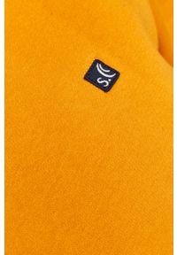 Żółta bluza nierozpinana s.Oliver z aplikacjami, casualowa, bez kaptura