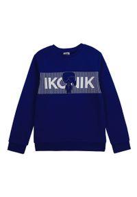 Niebieska bluza Karl Lagerfeld z nadrukiem, na co dzień, klasyczna