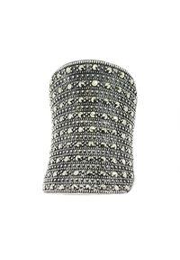 Braccatta - BRIANNA; Srebrny pierścionek markazyty duży koktajlowy. Materiał: srebrne. Kolor: srebrny. Kamień szlachetny: markazyt