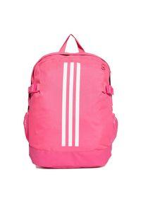Adidas - Plecak adidas 3 Stripes Power Medium DM7683. Materiał: tkanina, poliester. Wzór: ze splotem, paski