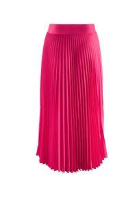 LA MANIA - Plisowana spódnica Lang w kolorze różowym. Kolor: wielokolorowy, różowy, fioletowy. Materiał: materiał #3