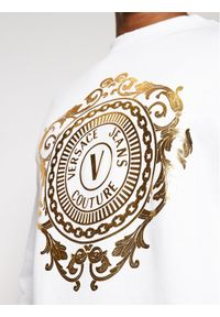 Versace Jeans Couture Bluza B7GWA73F Biały Regular Fit. Kolor: biały