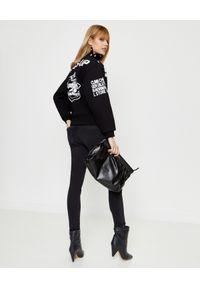 KENZO - Czarna bluza z nadrukami Kenzo x Kansai Yamamoto. Kolor: czarny. Długość rękawa: długi rękaw. Długość: długie. Wzór: nadruk. Styl: klasyczny