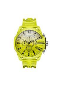 Żółty zegarek Diesel
