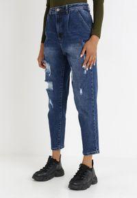 Born2be - Niebieskie Jeansy Slouchy Myspheu. Stan: podwyższony. Kolor: niebieski. Długość: długie. Styl: sportowy