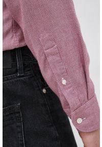 Eton - ETON - Koszula. Okazja: na co dzień. Typ kołnierza: button down. Kolor: czerwony. Materiał: tkanina. Długość rękawa: długi rękaw. Długość: długie. Wzór: gładki. Styl: casual