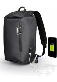 Szary plecak na laptopa PORT DESIGNS w kolorowe wzory