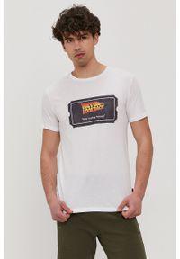John Frank - T-shirt. Okazja: na co dzień. Kolor: biały. Wzór: nadruk. Styl: casual