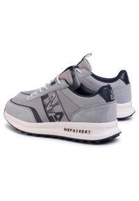 Szare sneakersy Napapijri na co dzień, z cholewką