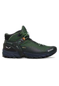 Zielone buty trekkingowe Salewa trekkingowe, Gore-Tex