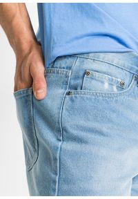 """Długie szorty dżinsowe, Regular Fit bonprix niebieski """"bleached"""". Kolor: niebieski. Długość: długie"""