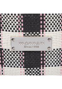 Czarna shopperka Monnari w kolorowe wzory, skórzana