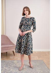 Marie Zélie - Sukienka Galatea Majalis. Materiał: bawełna, wiskoza, materiał, elastan, skóra