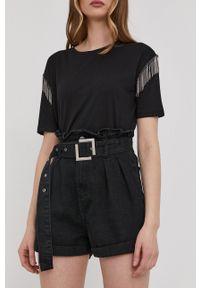 Answear Lab - Szorty jeansowe. Kolor: czarny. Materiał: jeans. Wzór: gładki. Styl: wakacyjny