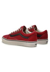 Czerwone buty sportowe Vans Vans Old Skool, z cholewką