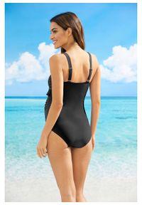 Czarny strój kąpielowy bonprix z wyjmowanymi miseczkami, moda ciążowa