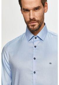 Niebieska koszula Calvin Klein gładkie, długa