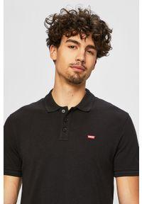 Czarna koszulka polo Levi's® casualowa, gładkie, polo, krótka