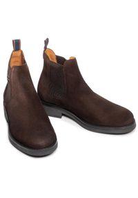 Brązowe buty zimowe GANT z cholewką, klasyczne