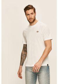 Biały t-shirt Dickies na co dzień, casualowy