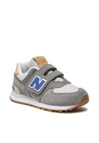 New Balance - Sneakersy NEW BALANCE - PV574NA2 Szary. Okazja: na spacer, na co dzień. Zapięcie: rzepy. Kolor: szary. Materiał: skóra, zamsz, materiał. Szerokość cholewki: normalna. Styl: casual
