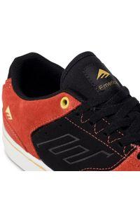 Czerwone buty sportowe Emerica na co dzień, z cholewką