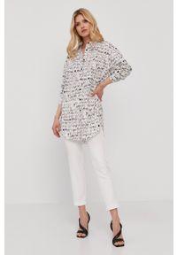 Nissa - NISSA - Koszula. Kolor: biały. Materiał: tkanina. Długość rękawa: krótki rękaw. Długość: krótkie