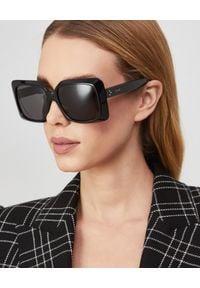 CELINE - Czarne okulary przeciwsłoneczne. Kolor: czarny. Wzór: gradientowy, aplikacja