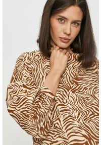 Samsoe & Samsoe - Samsoe Samsoe - Sukienka. Okazja: na co dzień. Kolor: brązowy. Materiał: tkanina, bawełna. Długość rękawa: długi rękaw. Typ sukienki: proste. Styl: casual