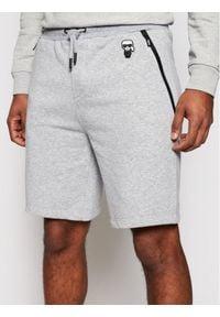 Karl Lagerfeld - KARL LAGERFELD Szorty sportowe Sweat 705026 511900 Szary Regular Fit. Kolor: szary