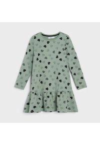 Sinsay - Sukienka babydoll - Zielony. Kolor: zielony