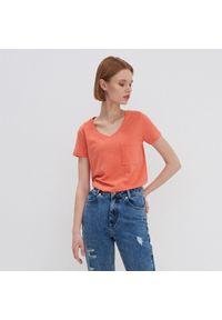 House - Koszulka z bawełny organicznej - Pomarańczowy. Kolor: pomarańczowy. Materiał: bawełna