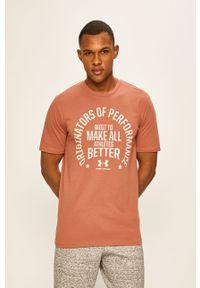 Różowy t-shirt Under Armour z nadrukiem
