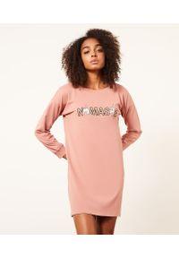 Yay Koszula Nocna Z Nadrukiem - S - Różowy - Etam. Kolor: różowy. Długość: długie. Wzór: nadruk