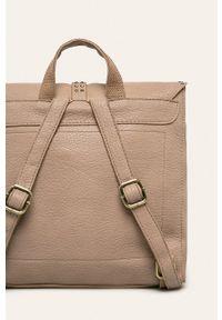 Beżowy plecak ANSWEAR z aplikacjami, elegancki
