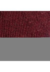 Szal TOMMY HILFIGER - Th Effortless Scarf AW0AW09051 VLP. Kolor: czerwony. Materiał: materiał, poliamid, akryl, wełna, włókno